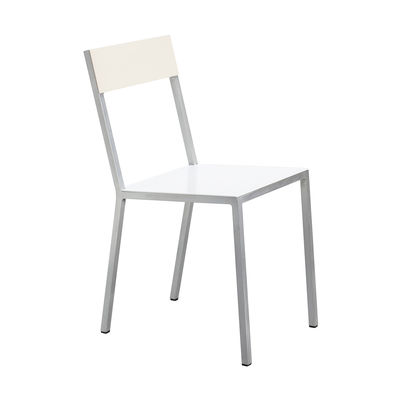 Furniture - Chairs - Alu Chair by valerie objects - White seat / Ivory backrest - Aluminium