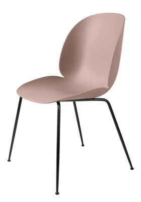 Furniture - Chairs - Beetle Chair - /Gamfratesi – Black legs by Gubi - Pink/Black legs - Lacquered steel, Polypropylene