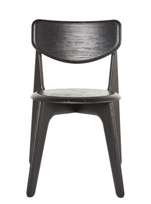 Chaise empilable Slab Chêne Tom Dixon noir en bois