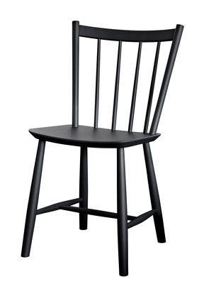 Mobilier - Chaises, fauteuils de salle à manger - Chaise J41 / Bois - Hay - Noir - Hêtre laqué