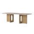 Androgyne Coffee table - / Stone & oak - 120 x 45 cm by Menu