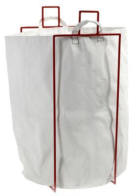 Corbeille à linge Laundryholder / Sac amovible - Serax blanc,rouge en métal