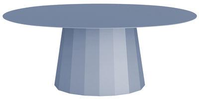 Möbel - Couchtische - Ankara Couchtisch / L 109 cm x H 42 cm - Matière Grise - Taubenblau - bemalter Stahl