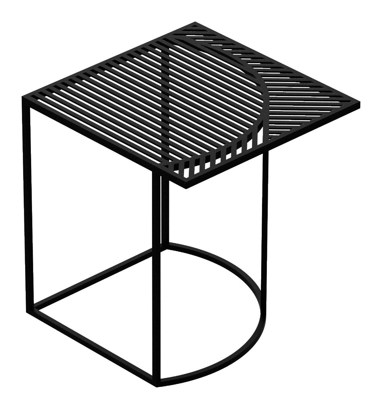 Möbel - Couchtische - Iso-B Couchtisch / 46 x 46 cm x H 48 cm - Petite Friture - Schwarz - thermolackierter Stahl