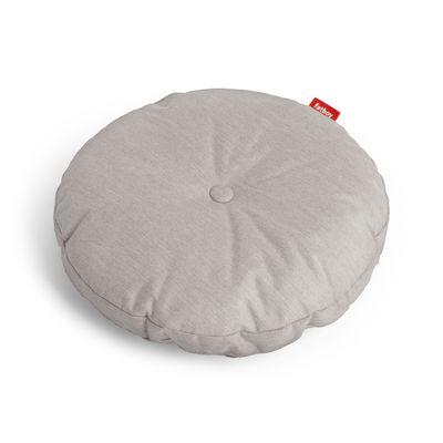 Déco - Coussins - Coussin d'extérieur Circle Pillow / Ø 50 cm - Fatboy - Gris - Mousse polyester, Tissu acrylique