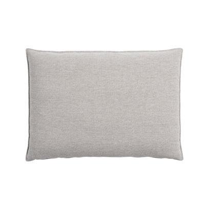 Déco - Coussins - Coussin de dossier / Pour canapé In Situ - 65 x 45 - Muuto - Gris clair - Mousse, Tissu Kvadrat