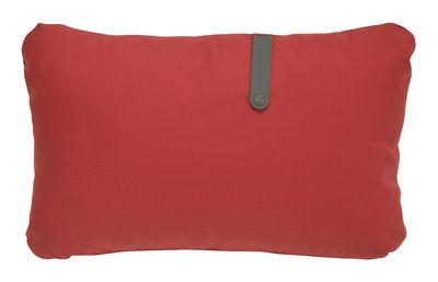 Interni - Cuscini  - Cuscino da esterno Color Mix / 44 x 30 cm - Fermob - Rosso candy / Cinghia rosmarino - Espanso, PVC, Tessuto acrilico