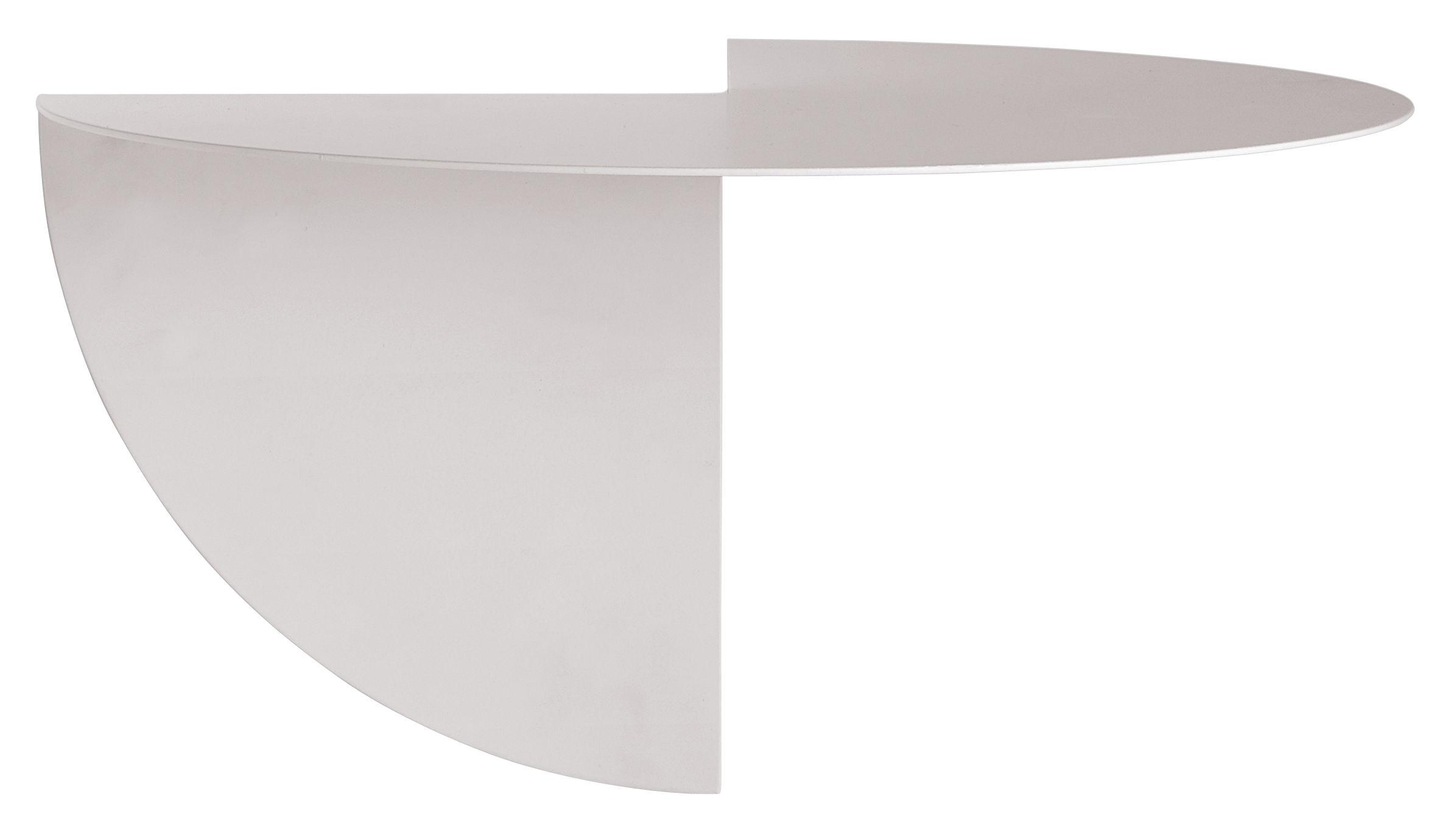 Mobilier - Etagères & bibliothèques - Etagère d'angle Pivot 4 / Coin externe - L 33 cm - Hay - Blanc cassé - Acier peint