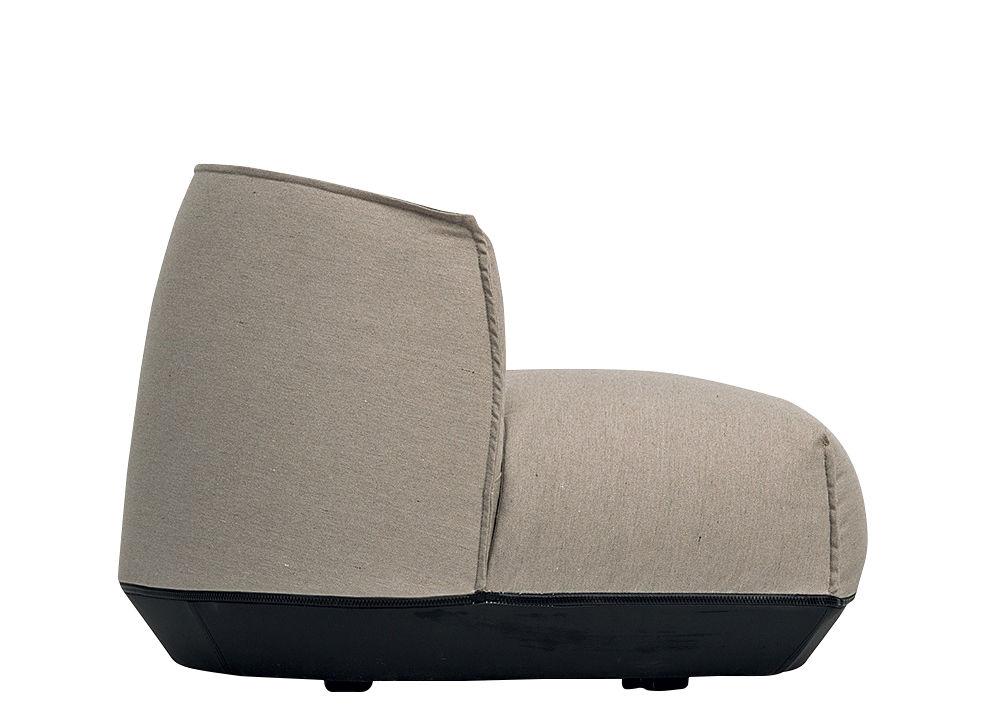Mobilier - Fauteuils - Fauteuil Brioni / Lounge - Small - Kristalia - Beige frêne - Polyester, Polyuréthane, Toile Sunbrella
