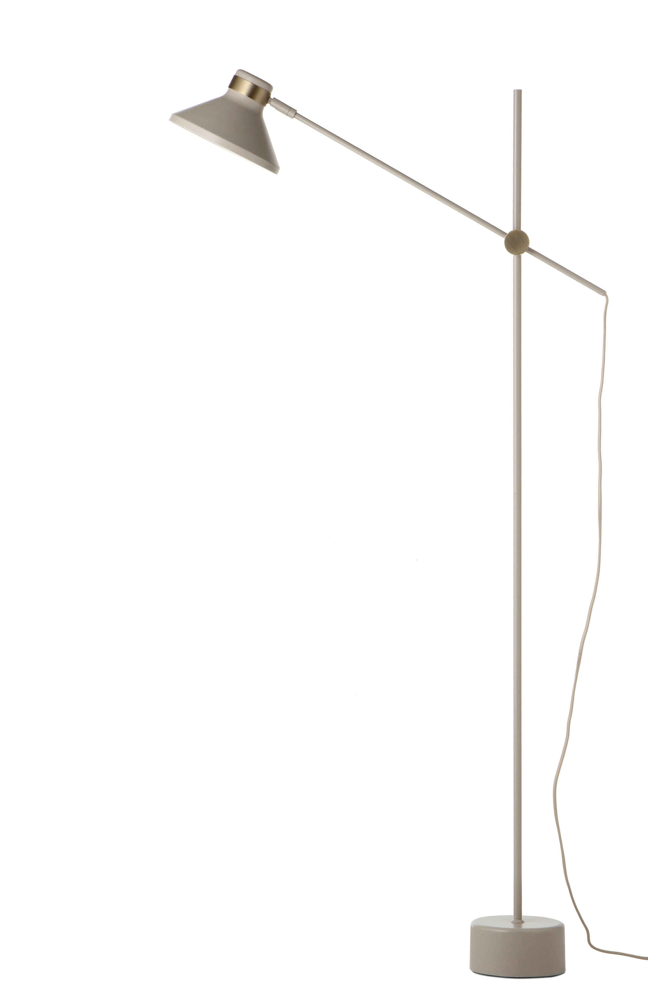Lighting - Floor lamps - Mr Floor lamp - / Metal - H 140 cm by Frandsen - Matt taupe - Painted metal