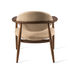 Roundy Gepolsterter Sessel / Stoff & Holz - Pols Potten