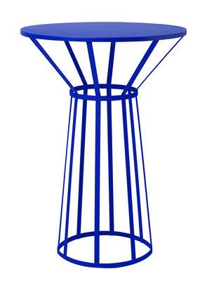 Guéridon Hollo / Ø 50 x H 73 cm - Petite Friture bleu en métal