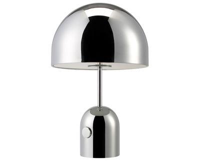 Illuminazione - Lampade da tavolo - Lampada da tavolo Bell Small di Tom Dixon - Cromato - Acciaio cromato