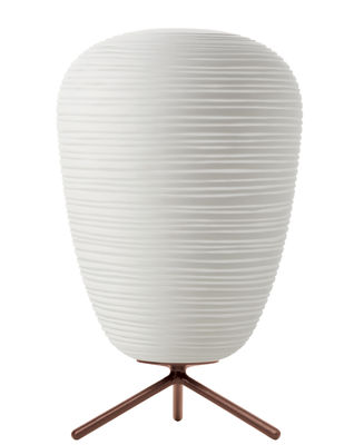 Illuminazione - Lampade da tavolo - Lampada da tavolo Rituals 1 - / Ø 24 x H 40 di Foscarini - Variatore / Bianco - Vetro soffiato a bocca