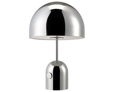 Lampe de table Bell Small / H 44 cm - Tom Dixon chromé en métal