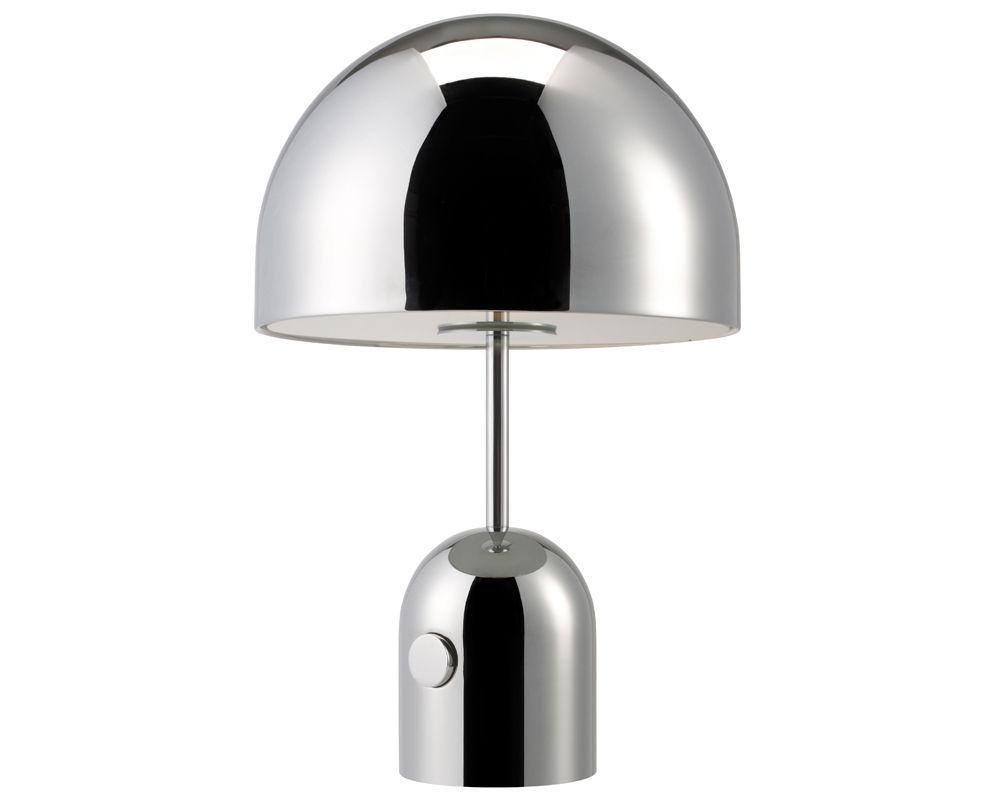 Luminaire - Lampes de table - Lampe de table Bell Small / H 44 cm - Tom Dixon - Chromé - Acier chromé