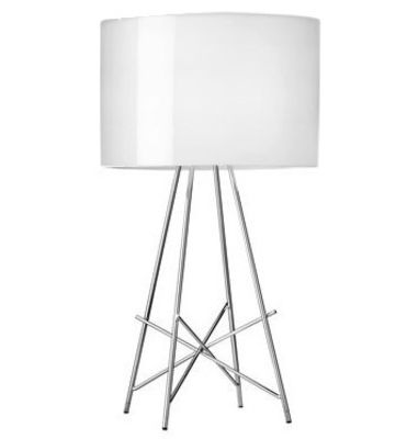 Lampe de table Ray T - Flos blanc brillant en métal