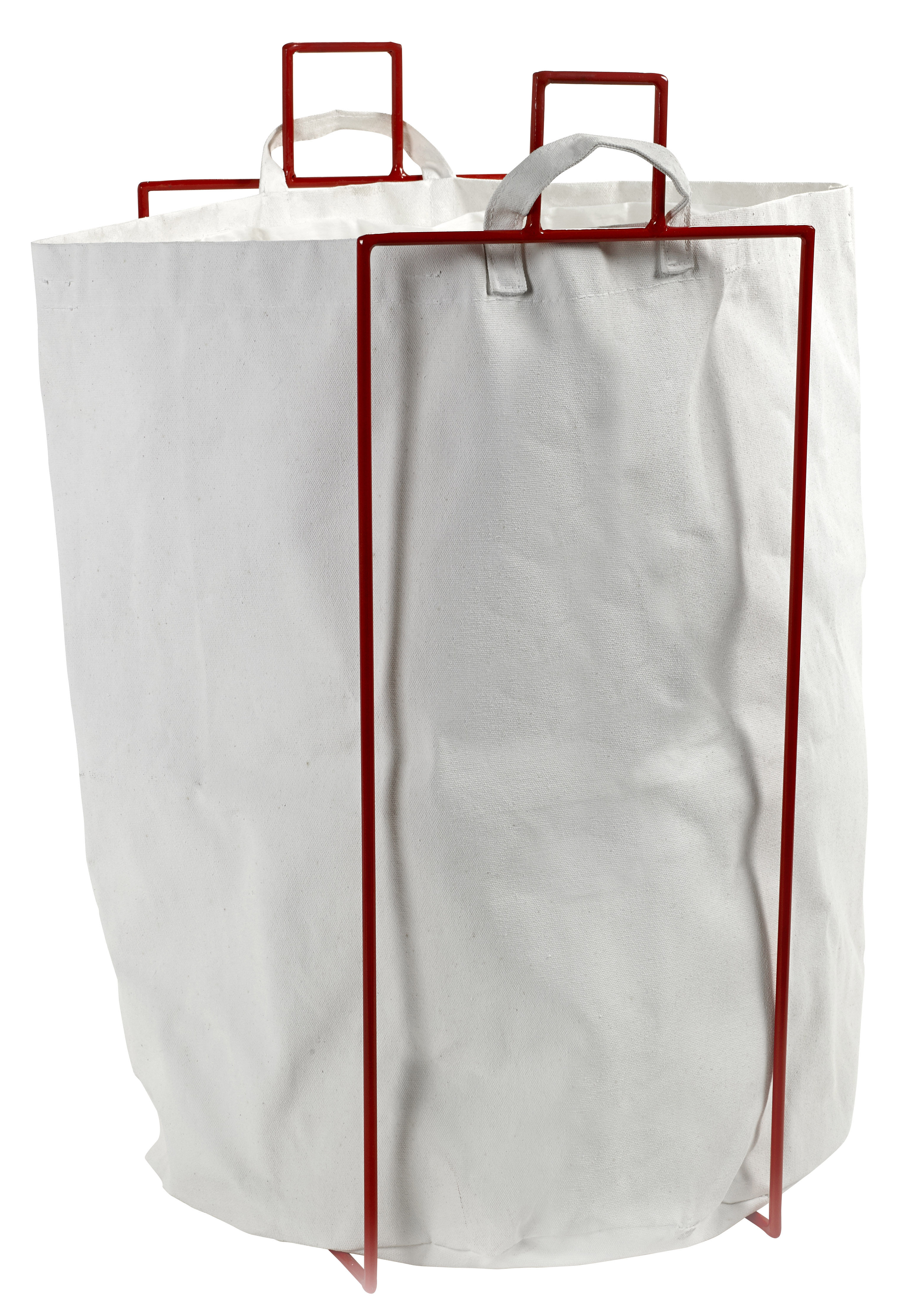 Accessories - Bathroom Accessories - Laundryholder Laundry basket - Removable bag by Serax - Red - Fabric, Metal
