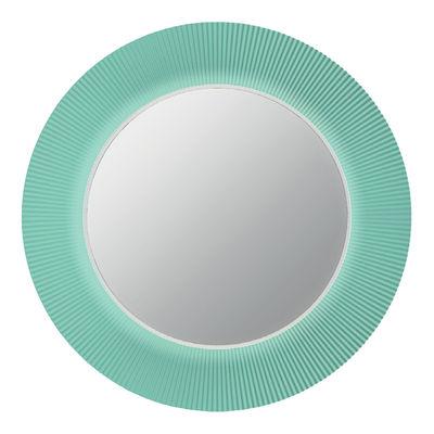 Miroir lumineux All saints LED / Ø 78 cm - Kartell vert aigue marine en matière plastique