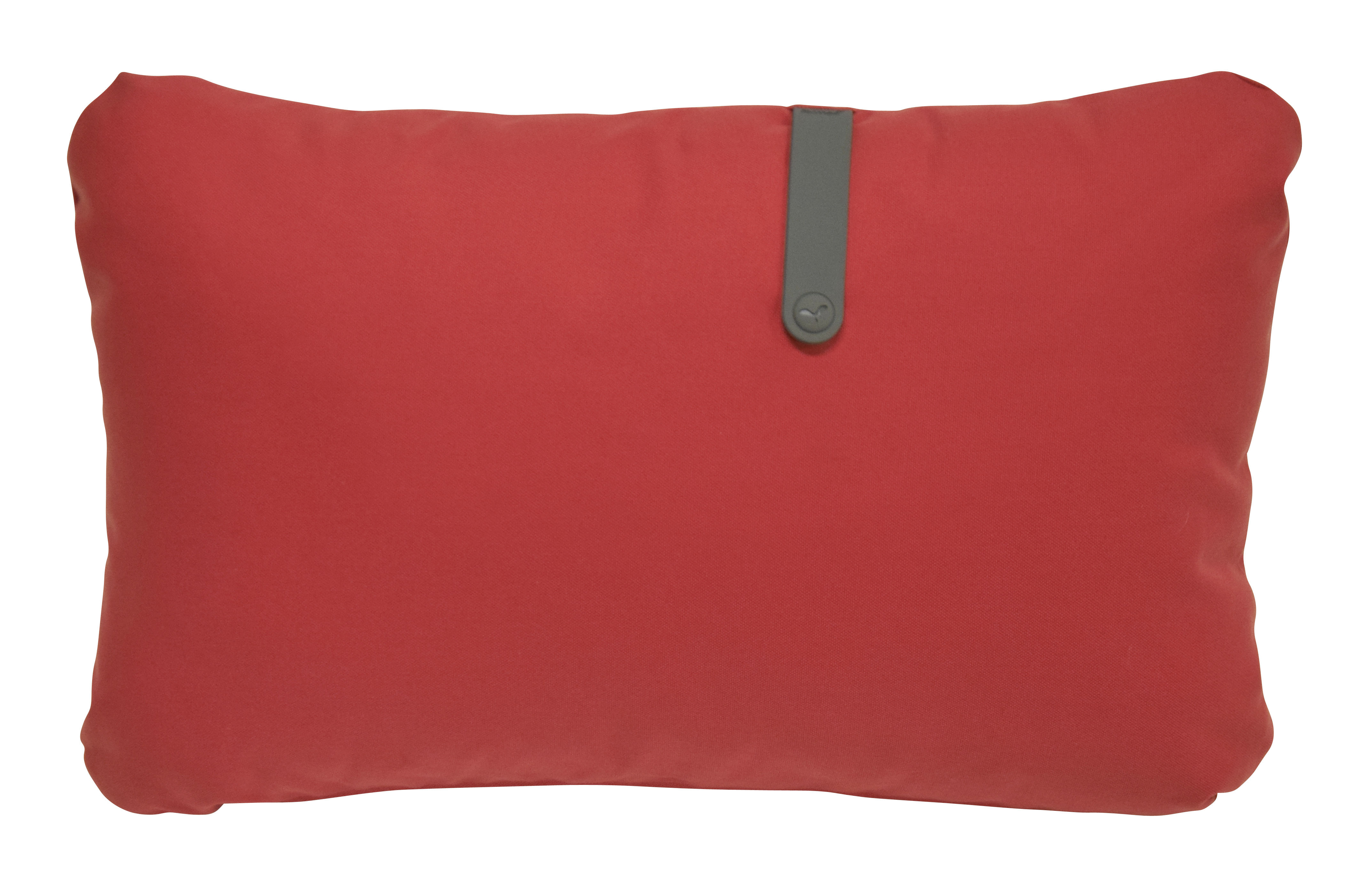 Decoration - Cushions & Poufs - Color Mix Outdoor cushion - 68 x 44 cm by Fermob - Candy red / Rosemary stripe - Acrylic fabric, Foam, PVC
