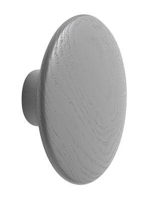 Mobilier - Portemanteaux, patères & portants - Patère The Dots Wood / Medium - Ø 13 cm - Muuto - Gris foncé - Frêne teinté