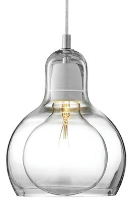 Lighting - Pendant Lighting - Mega Bulb Pendant - Ø 18 cm - Transparent cable by And Tradition - Transparent / clear cord - Mouth blown glass