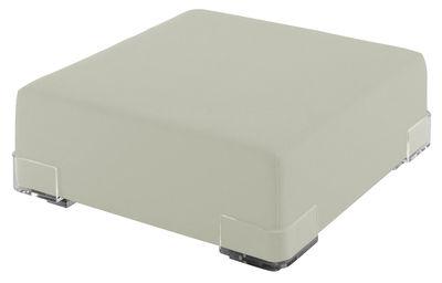 Pouf Plastics - Kartell blanc en matière plastique