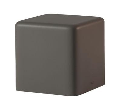 Pouf Soft Cubo /43 x 43 cm - Mousse - Slide gris argile en matière plastique