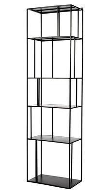 Möbel - Regale und Bücherregale - Metal Tall Single Regal / L 50 cm x H 179 cm - Pols Potten - L 50 cm / Schwarz - Métal époxy