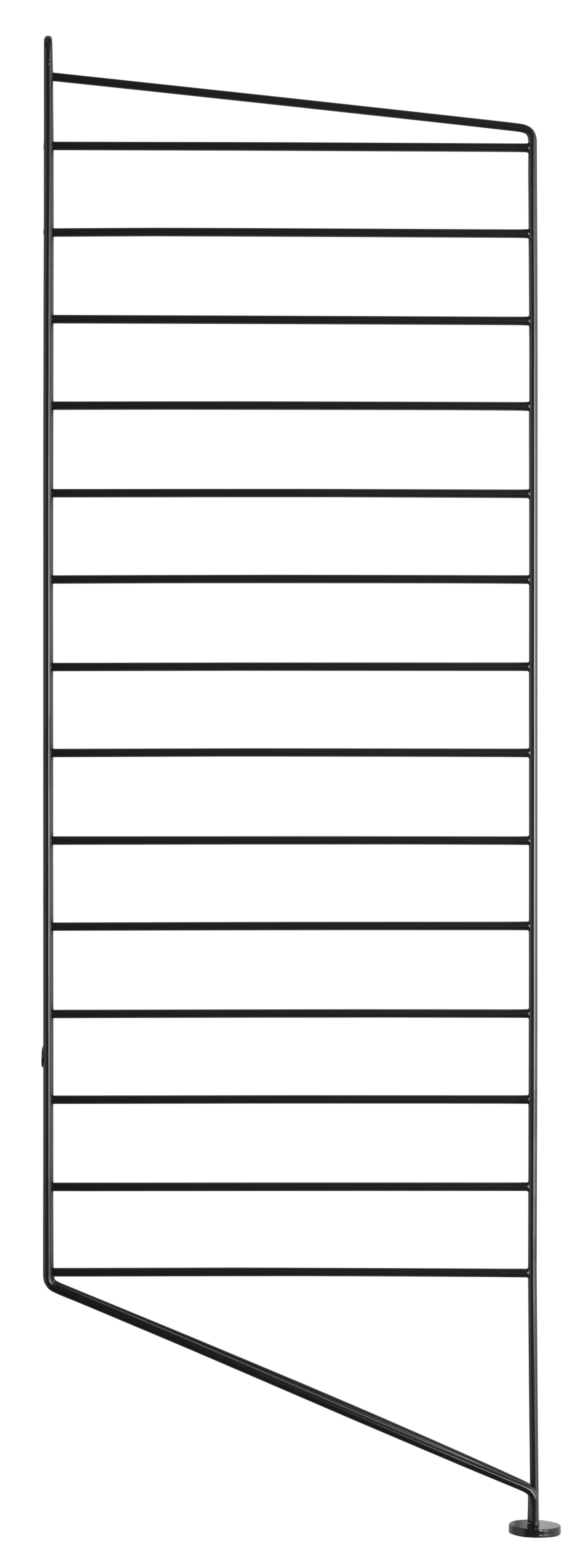 Möbel - Regale und Bücherregale - String system Seitenelement / zum Hinstellen - String Furniture - Schwarz - lackierter Stahl