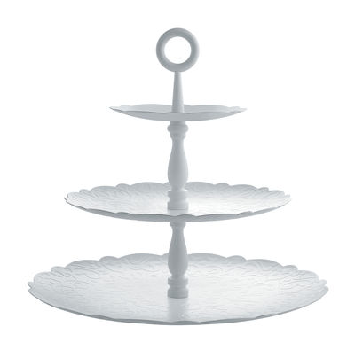 Serviteur Dressed for X-mas / 3 plateaux - Porcelaine - Alessi blanc en métal