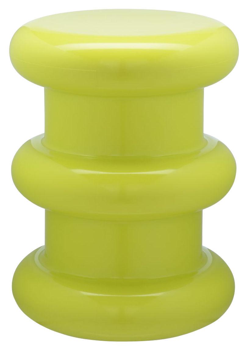Arredamento - Sgabelli - Sgabello Pilastro / H 46 x Ø 35 cm - By Ettore Sottsass - Kartell - Verde - Technopolymère thermoplastique teinté dans la masse