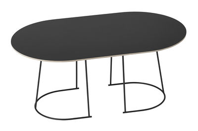 Table basse Airy / Medium - 88 x 51,5 cm - Muuto noir en métal/bois