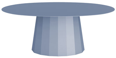 Table basse Ankara / L 109 x H 42 cm - Matière Grise bleu pigeon en métal