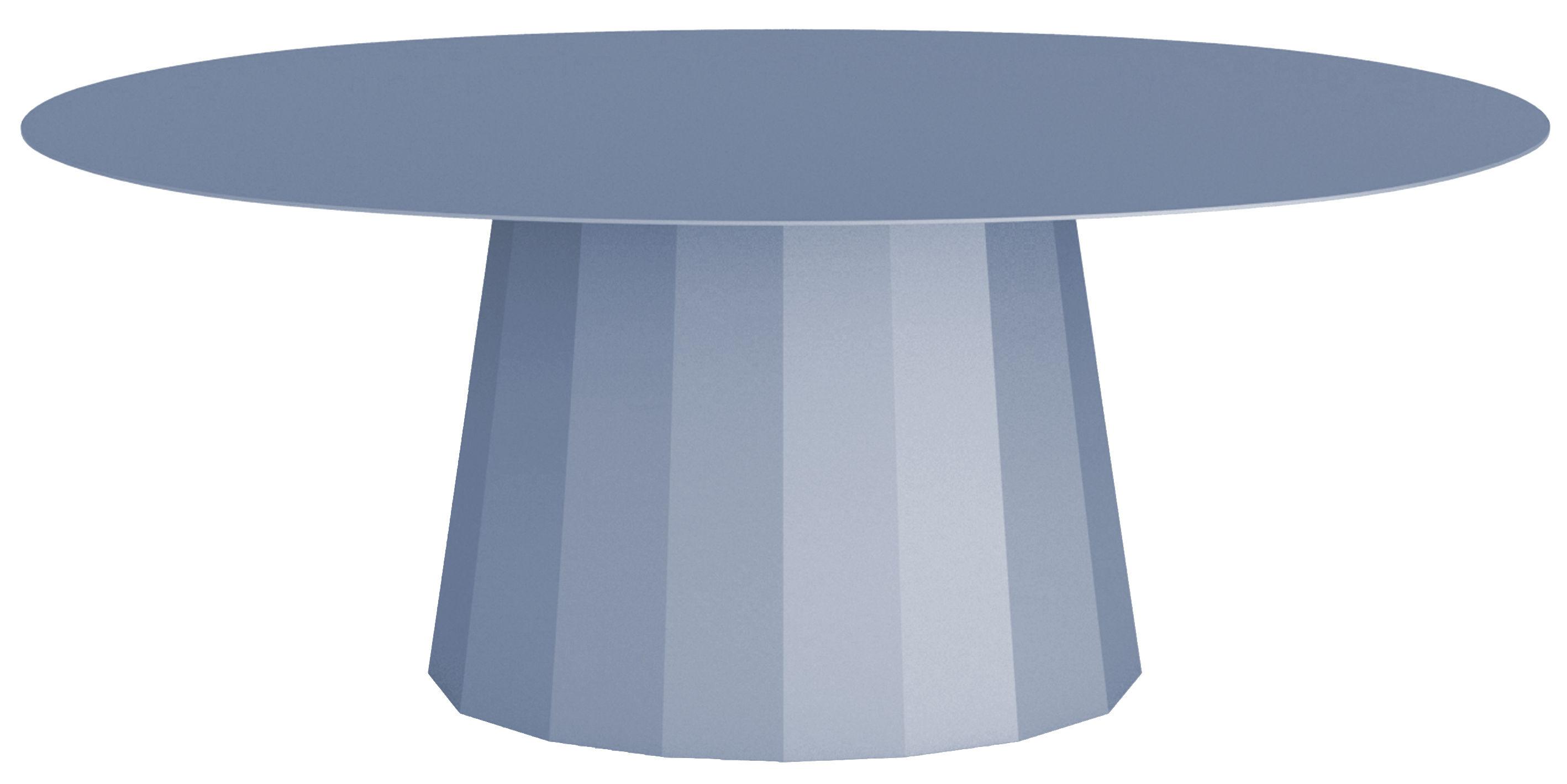 Mobilier - Tables basses - Table basse Ankara / L 109 x H 42 cm - Matière Grise - Bleu pigeon - Acier peint