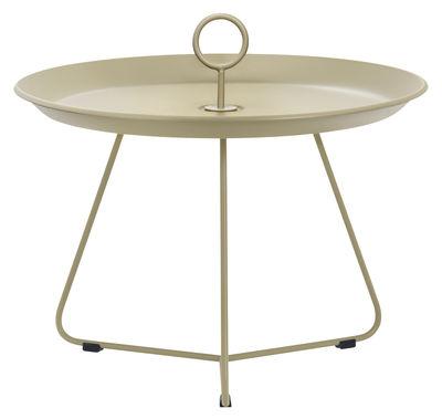 Table basse Eyelet Medium Ø 60 x H 43,5 cm Houe khaki en métal