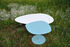 Table basse Galet n°1 OUTDOOR / 59 x 63 x H 40 cm - Matière Grise