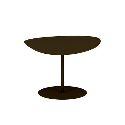 Table basse Galet n°2 OUTDOOR / 58 x 75 x H 39 cm - Matière Grise marron/métal en métal