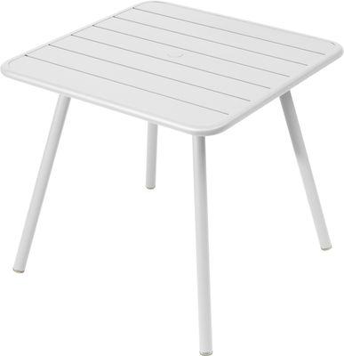 Table Luxembourg / 80 x 80 cm - 4 pieds - Fermob blanc en métal