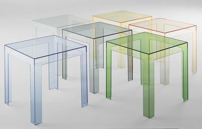 Table d'appoint Jolly - Kartell cristal en matière plastique