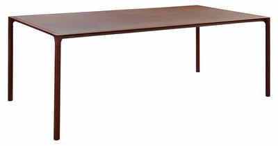Table rectangulaire Terramare / Métal effet rouille - 203 x 103 cm - Emu