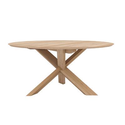 Table ronde Circle / Chêne massif - Ø 163 cm / 6 personnes - Ethnicraft bois naturel en bois