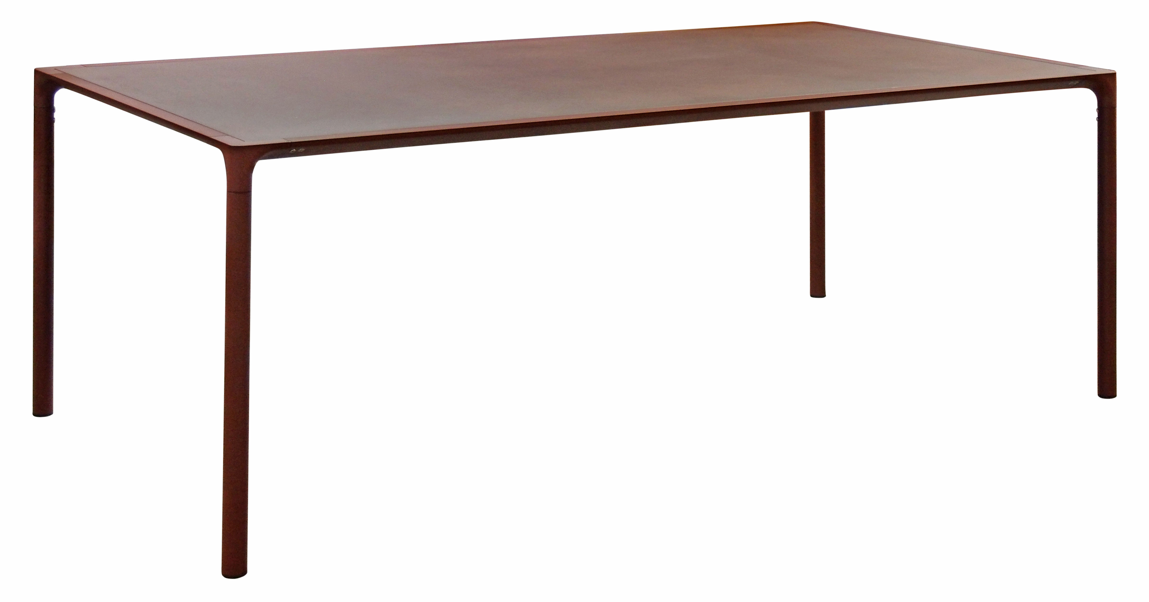 Jardin - Tables de jardin - Table Terramare / Métal effet rouille - 203 x 103 cm - Emu - Corten (effet rouille) - Aluminium verni