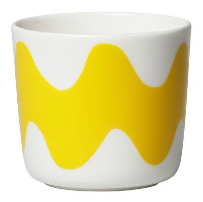 Tasse à café Oiva Lokki / Sans anse - Set de 2 - Marimekko blanc,jaune en céramique