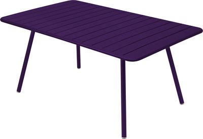 Life Style - Tavolo rettangolare Luxembourg - / 6 a 8 persone - 165 x 100 cm di Fermob - Melanzana - Alluminio laccato