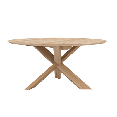 Tendenze - A tavola! - Tavolo rotondo Circle - / Rovere massello - Ø 163 cm / 6 persone di Ethnicraft - Ø 163 cm / Rovere - Rovere massello