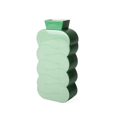 Déco - Vases - Vase Pompidou Large / Porcelaine - H 30 cm - Jonathan Adler - Large / Vert - Porcelaine