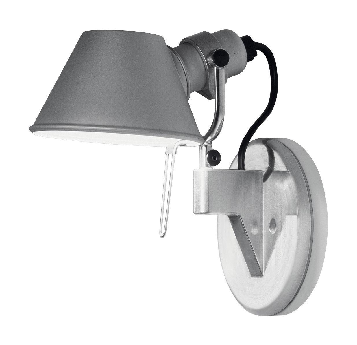 Lighting - Wall Lights - Tolomeo micro Faretto LED Wall light - LED - H 20 cm by Artemide - LED - Aluminium - Aluminium