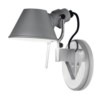 Leuchten - Wandleuchten - Tolomeo micro Faretto LED Wandleuchte LED - H 20 cm - Artemide - LED - Aluminium - H 20 cm - Aluminium