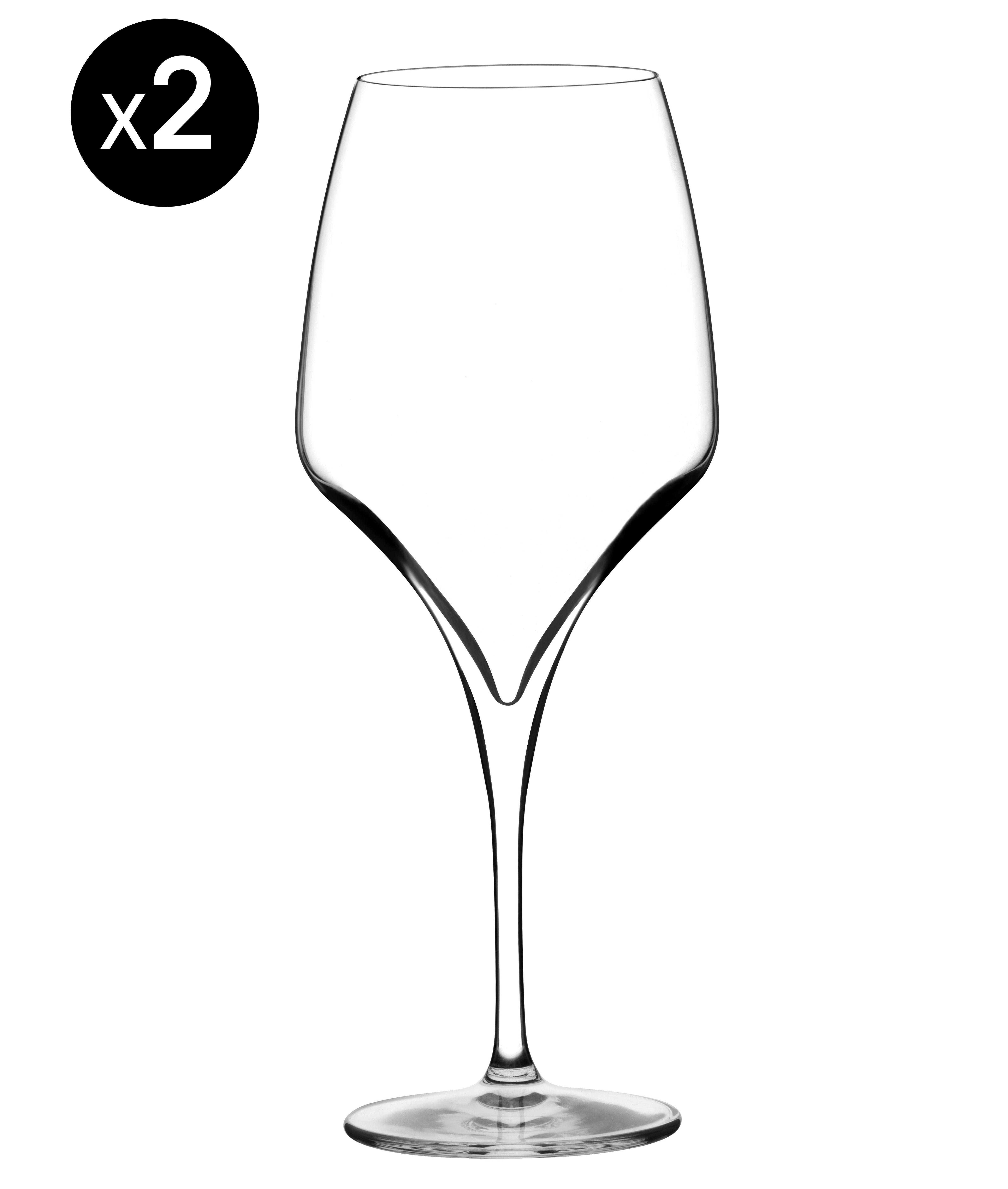 Tischkultur - Gläser - Tiburòn Magnum Weinglas / 80 cl - 2er Set - Italesse - 80 cl / transparent - mundgeblasenes Glas